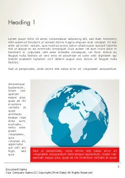 Globe in Flat Style Word template First Inner Page