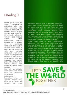 Save Nature Theme Word Template First Inner Page