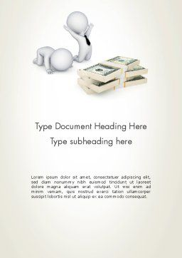 3D Small People and Dollar Packs Word Template, Cover Page, 12908, 3D — PoweredTemplate.com