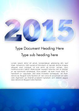 Blue and Purple 2015 Word Template, Cover Page, 12909, Holiday/Special Occasion — PoweredTemplate.com