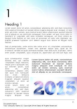 Blue and Purple 2015 Word Template, First Inner Page, 12909, Holiday/Special Occasion — PoweredTemplate.com