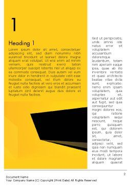Geometric Black and Yellow Word Template, First Inner Page, 12910, Business — PoweredTemplate.com