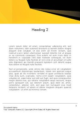 Geometric Black and Yellow Word Template, Second Inner Page, 12910, Business — PoweredTemplate.com