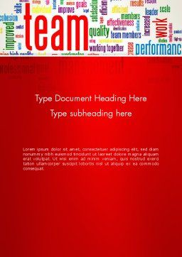 Team Word Cloud Word Template, Cover Page, 12911, Careers/Industry — PoweredTemplate.com