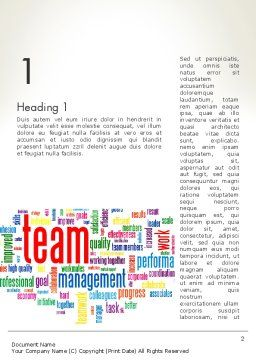 Team Word Cloud Word Template, First Inner Page, 12911, Careers/Industry — PoweredTemplate.com
