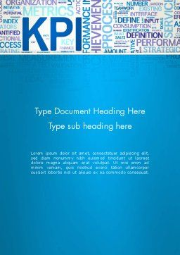 KPI Word Cloud Word Template Cover Page