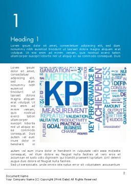 KPI Word Cloud Word Template First Inner Page
