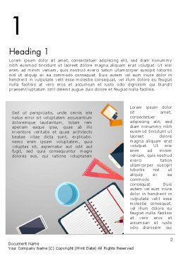 Workplace Concept Word Template First Inner Page