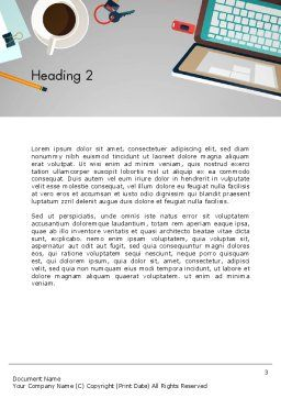Workplace Concept Word Template Second Inner Page