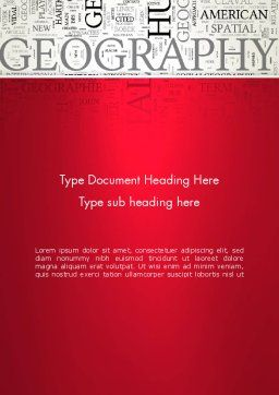 Geography Word Cloud Word Template, Cover Page, 12921, Education & Training — PoweredTemplate.com