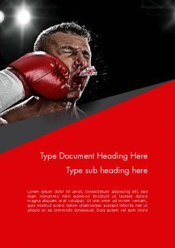 Knockout Word Template, Cover Page, 12928, Sports — PoweredTemplate.com