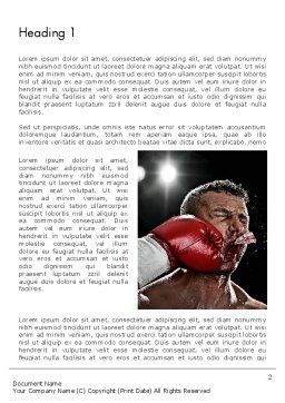 Knockout Word Template, First Inner Page, 12928, Sports — PoweredTemplate.com