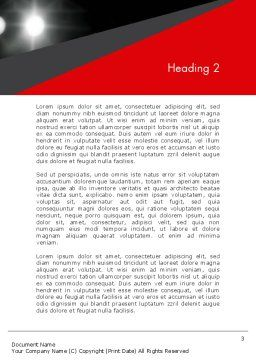 Knockout Word Template, Second Inner Page, 12928, Sports — PoweredTemplate.com