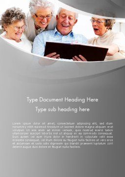 Retirement Activities Word Template, Cover Page, 12930, People — PoweredTemplate.com