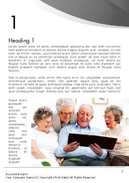 Retirement Activities Word Template, First Inner Page, 12930, People — PoweredTemplate.com