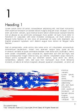 United States Flag Theme Word, First Inner Page, 12931, America — PoweredTemplate.com