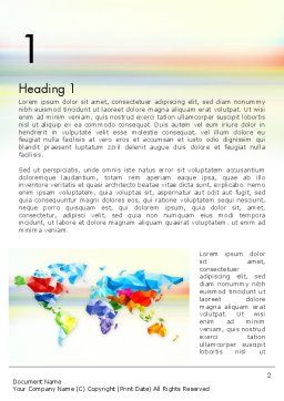 Colorful World Map in Polygonal Design Word Template First Inner Page