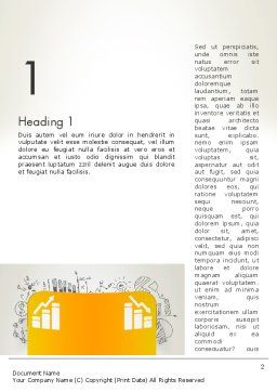 Financial Analisys Concept Word Template First Inner Page