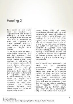 Financial Analisys Concept Word Template Second Inner Page