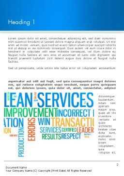 Lean Services Colored Word Cloud Word Template, First Inner Page, 12937, Careers/Industry — PoweredTemplate.com