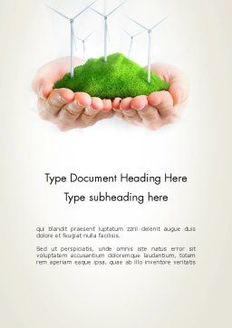 Sustainable Business Word Template Cover Page