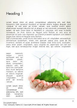 Sustainable Business Word Template, First Inner Page, 12942, Nature & Environment — PoweredTemplate.com