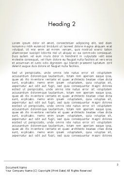 Sustainable Business Word Template Second Inner Page