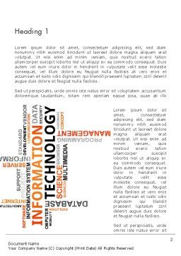 Information Technology Word Cloud Word Template, First Inner Page, 12944, Technology, Science & Computers — PoweredTemplate.com