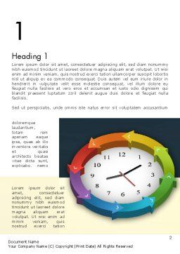 Around The Clock Process Word Template, First Inner Page, 12952, Business Concepts — PoweredTemplate.com