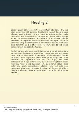 Around The Clock Process Word Template, Second Inner Page, 12952, Business Concepts — PoweredTemplate.com
