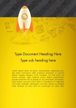 Startup Project Launch Word Template, Cover Page, 12953, Business Concepts — PoweredTemplate.com