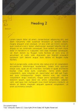 Startup Project Launch Word Template Second Inner Page