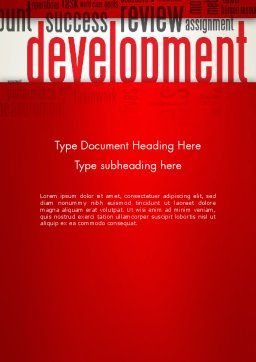 Development Word Cloud Word Template, Cover Page, 12959, Business Concepts — PoweredTemplate.com