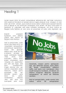 No Jobs Green Road Sign Word Template, First Inner Page, 12961, Consulting — PoweredTemplate.com