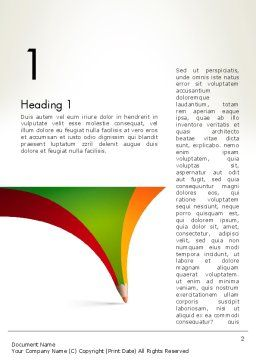 Creative Pencil Concept Word Template First Inner Page