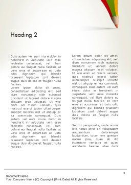 Creative Pencil Concept Word Template Second Inner Page