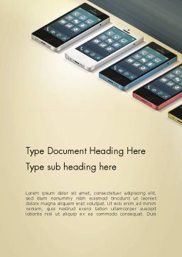 Series Smartphones Word Template, Cover Page, 12965, Careers/Industry — PoweredTemplate.com