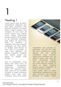 Series Smartphones Word Template First Inner Page