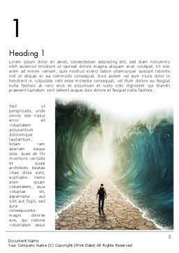 Walking Through The Water Word Template, First Inner Page, 12969, Business Concepts — PoweredTemplate.com