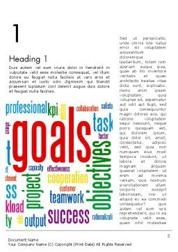 Key Performance Indicators Word Cloud Word Template, First Inner Page, 12971, Business Concepts — PoweredTemplate.com