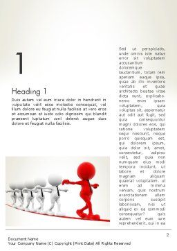 Great Leader Word Template First Inner Page