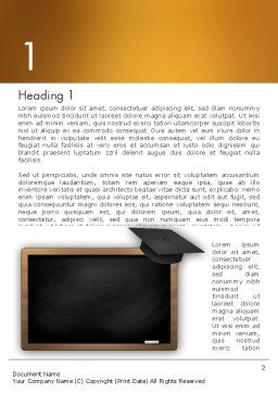 Blackboard with Mortarboard Word Template, First Inner Page, 12978, Education & Training — PoweredTemplate.com
