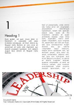 Leadership Management Word Template, First Inner Page, 12979, Business Concepts — PoweredTemplate.com