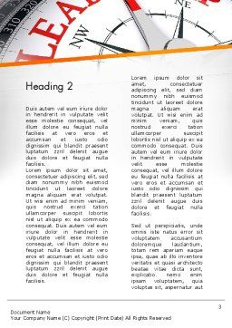 Leadership Management Word Template Second Inner Page