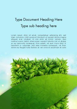 Leaves Background Word Template, Cover Page, 12984, Nature & Environment — PoweredTemplate.com