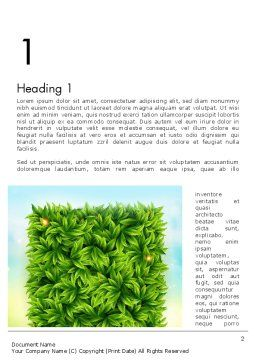 Leaves Background Word Template, First Inner Page, 12984, Nature & Environment — PoweredTemplate.com