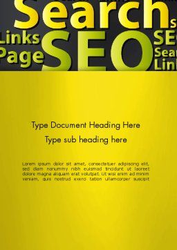 Search Engine Optimization Word Cloud Word Template Cover Page