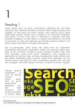 Search Engine Optimization Word Cloud Word Template First Inner Page
