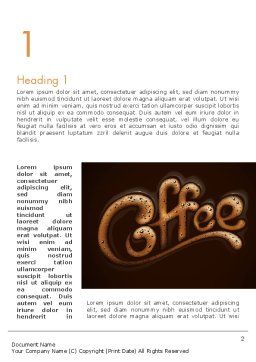 Coffee Aroma Word Template First Inner Page