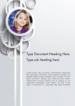 White Circles Word Template, Cover Page, 12990, People — PoweredTemplate.com